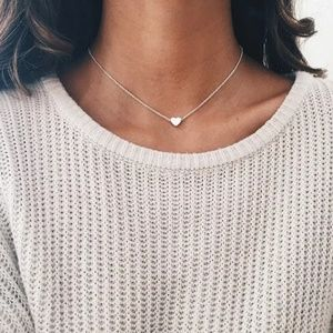 Heat Pendant Choker Necklace Silver Plated